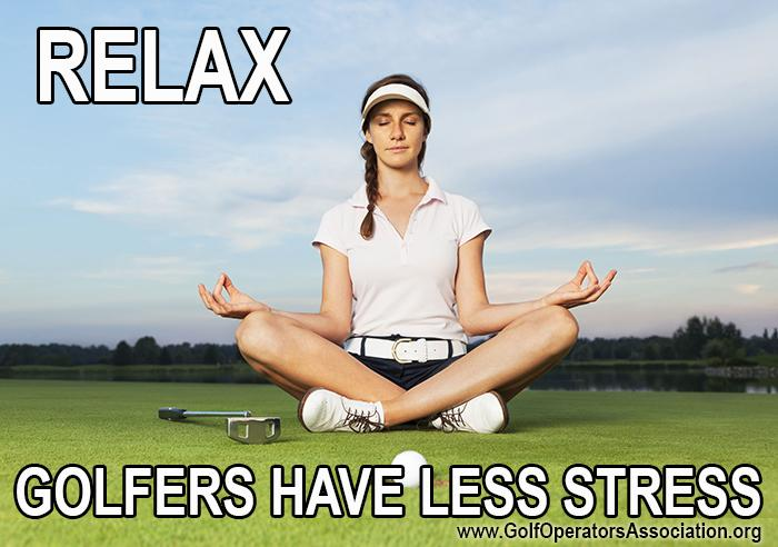 relax golfers have less stress